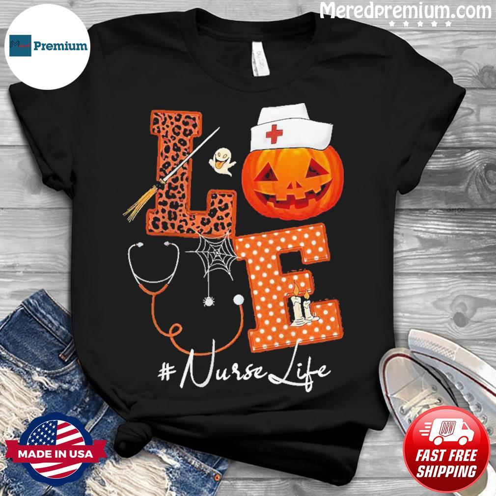 Love Nurse Pumpkin Halloween shirt
