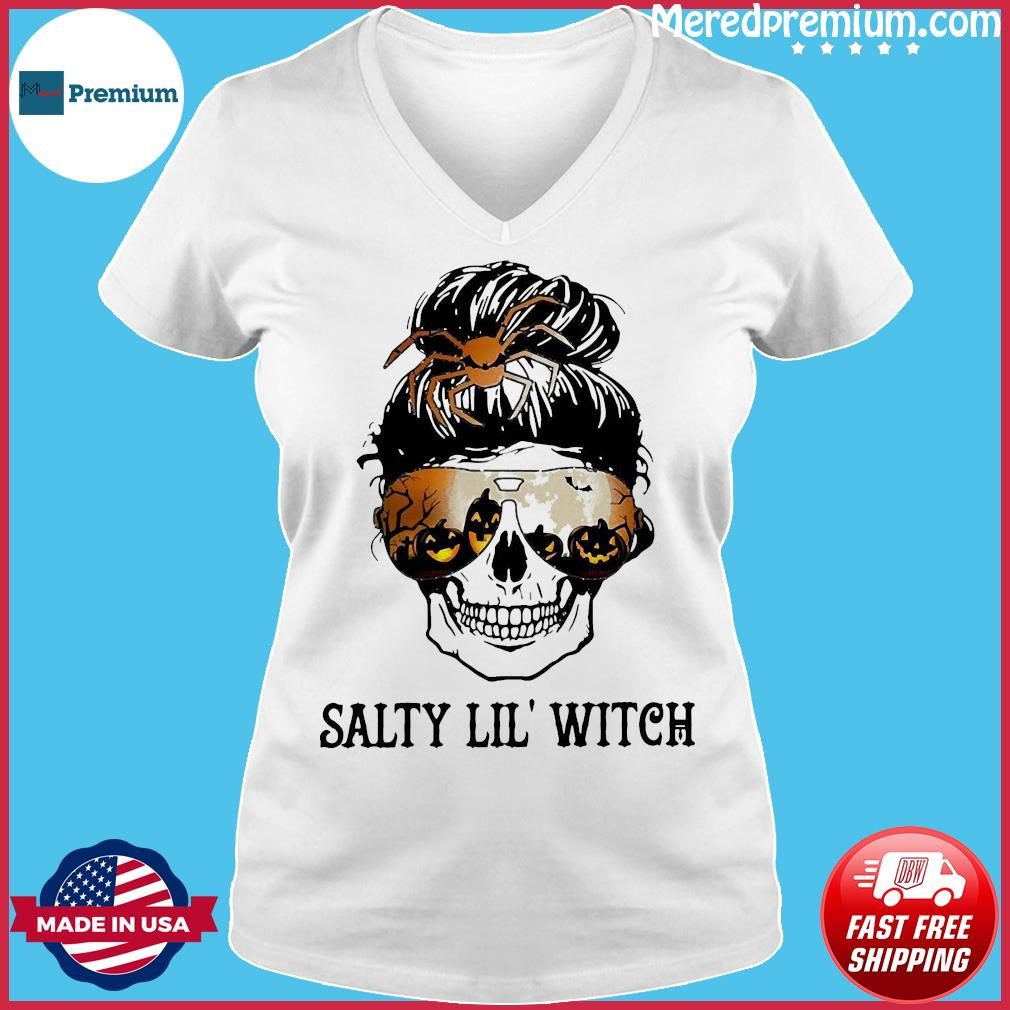 Skull salty lil' witch s Ladies V-neck