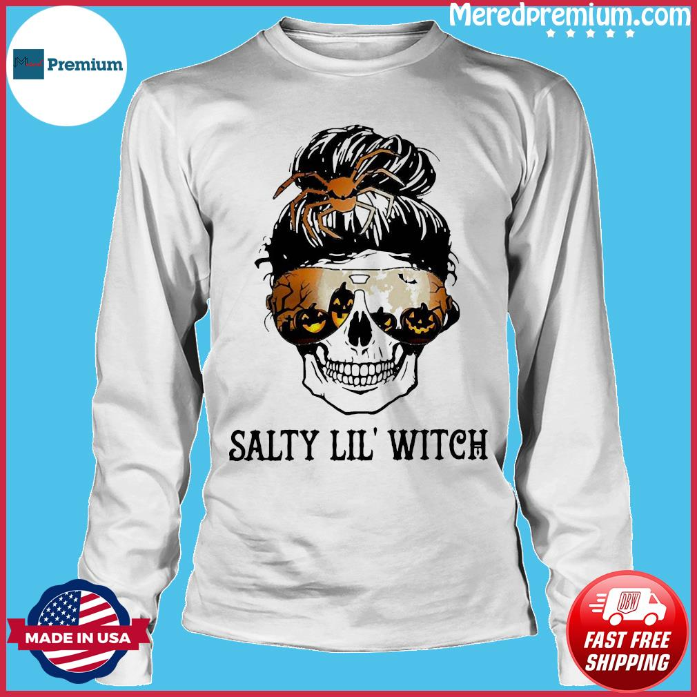 Skull salty lil' witch s Long Sleeve