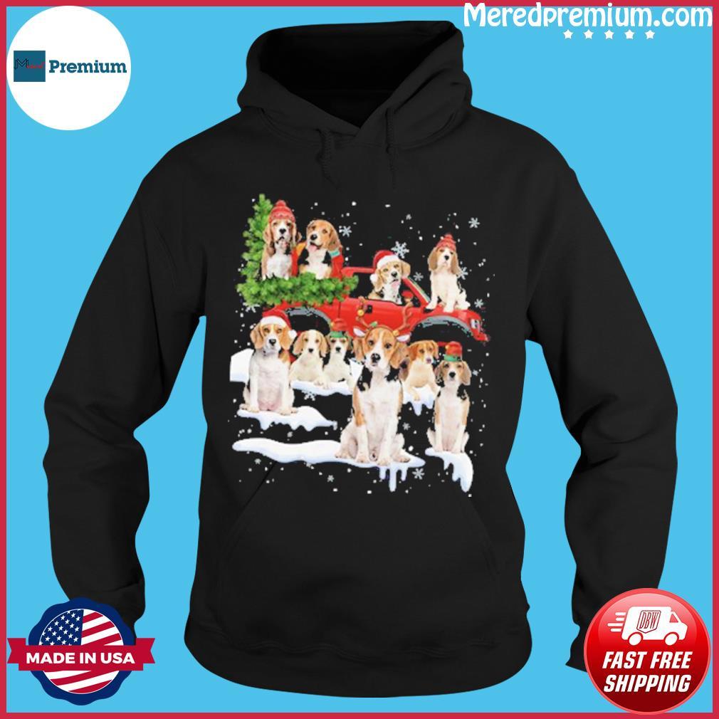 Bulldog Riding Truck Merry Christmas 2020 Sweats Hoodie