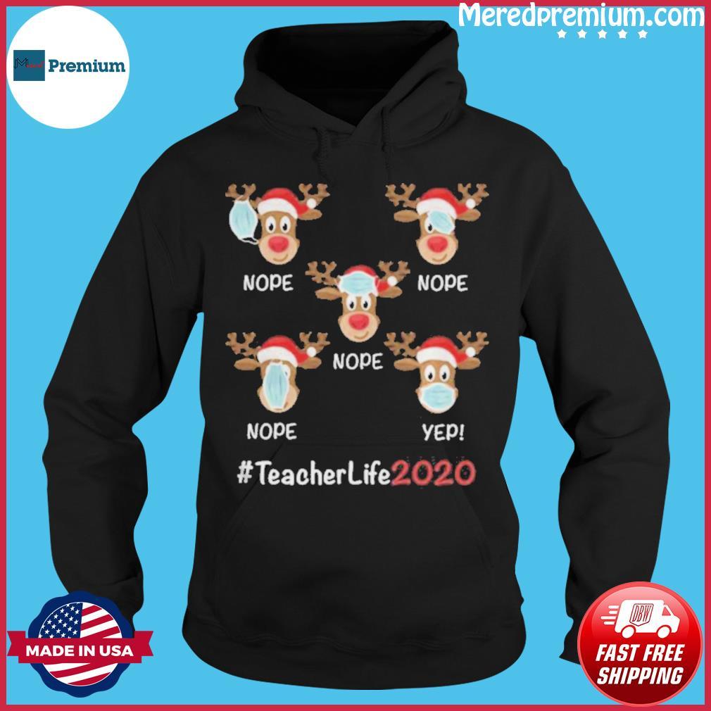 Christmas teacher life 2020 reindeer wearing mask s Hoodie