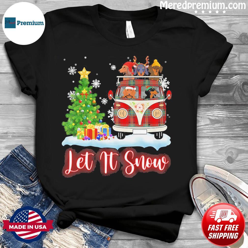 Dachshund Driver Let Is Snow Christmas Sweatshirt