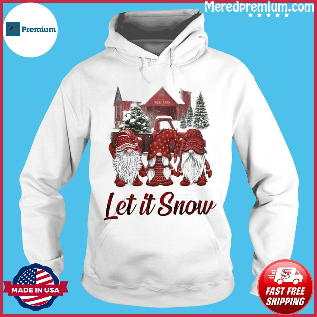 Gnomes Let It Snow Christmas Sweats Hoodie