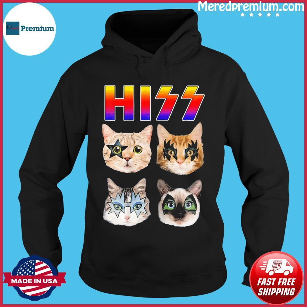 Hiss Funny Cats Kittens Rock Rockin T-Shirt Hoodie