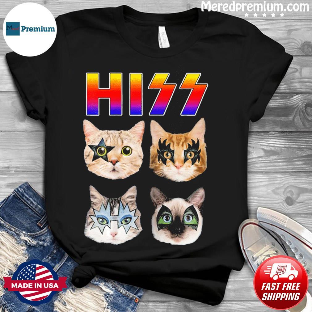 Hiss Funny Cats Kittens Rock Rockin T-Shirt