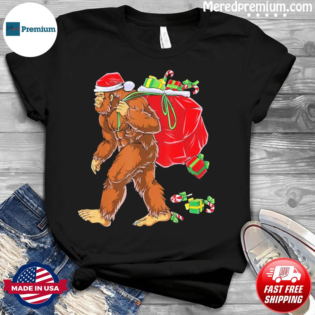 Santa Bigfoot Christmas Sweatshirt