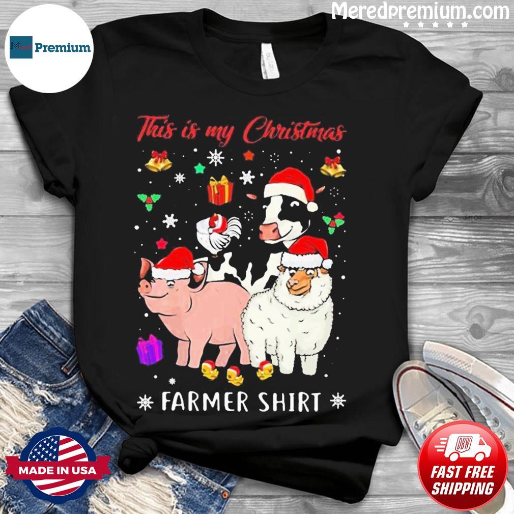 This Is My Christmas Farmer Santa Cow Pig Sweatshirt