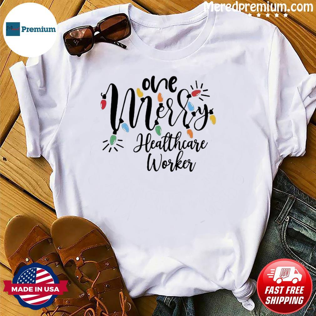 One Merry Healthcare Worker Christmas Light Sweatshirt