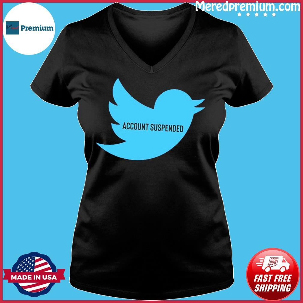 #AccountSuspended , Donald Trump Twitter Account Suspended T-Shirt – @RealDonaldTrump Ladies V-neck